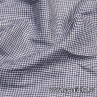 Лен (н) бело-фиолетовая гусиная лапка - итальянские ткани Тессутидея
