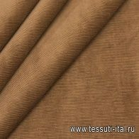 Вельвет (о) светло-коричневый - итальянские ткани Тессутидея