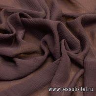 Маркизет крэш (о) коричневый в стиле F. Filippi - итальянские ткани Тессутидея