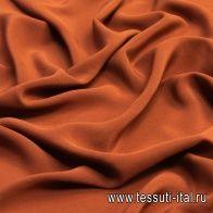 Крепдешин (о) коричнево-оранжевый - итальянские ткани Тессутидея