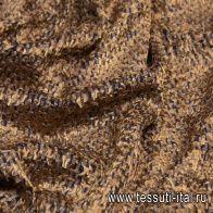 Панбархат длинноворсовый (н) сине-коричневый - итальянские ткани Тессутидея