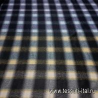 Пальтовая альпака (н) клетка черно-зелено-желтая - итальянские ткани Тессутидея арт. 09-1311