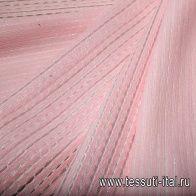 Органза деворе купон (0,75м) (н) бело-розовая - итальянские ткани Тессутидея арт. 03-4347