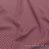 Плательная вискоза (н) красно-черный геометрический рисунок на белом в стиле Aspesi - итальянские ткани Тессутидея