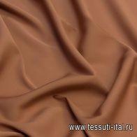 Крепдешин стрейч (о) какао - итальянские ткани Тессутидея