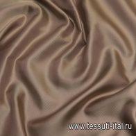 Подкладочная твил (о) темно-бежевая - итальянские ткани Тессутидея