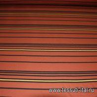 Трикотаж (н) черно-коричневая полоска - итальянские ткани Тессутидея арт. 12-0601