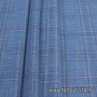 Костюмная (н) коричнево-голубая клетка Loro Piana - итальянские ткани Тессутидея