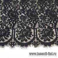 Кружевное полотно (о) черное - итальянские ткани Тессутидея арт. 03-6613
