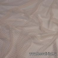 Плательная сетка (н) светло-розовая с вкраплениями - итальянские ткани Тессутидея арт. 03-6282