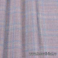 Костюмная (н) пыльно-голубая меланжевая клетка Loro Piana - итальянские ткани Тессутидея арт. 05-3979