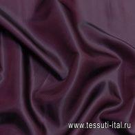Подкладочная твил (о) темно-бордовая - итальянские ткани Тессутидея