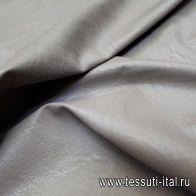 Искусственная кожа на вискозной основе (о) светло-коричневая - итальянские ткани Тессутидея