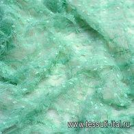 Сетка для юбки длиной 65см с рюшами (о) мятная - итальянские ткани Тессутидея