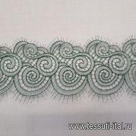 Кружево макраме (о) зеленое ш-9см - итальянские ткани Тессутидея арт. 03-5486