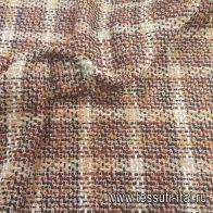 Шанель (н) черно-розово-терракотово-оранжевая - итальянские ткани Тессутидея