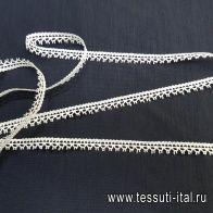 Кружево (о) белое ш-0,8см - итальянские ткани Тессутидея
