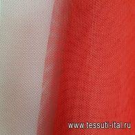 Сетка плательная (о) красная - итальянские ткани Тессутидея арт. 03-6500