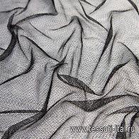Плательная сетка (о) черная - итальянские ткани Тессутидея арт. 03-6304