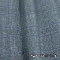 Костюмная (н) оливково-голубая меланжевая клетка Loro Piana - итальянские ткани Тессутидея