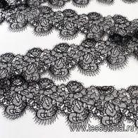 Кружево (о) черное ш-10см в стиле SCERVINO  - итальянские ткани Тессутидея