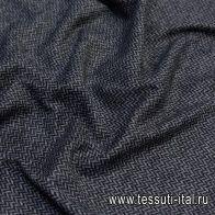 Трикотаж (н) черно-серая елочка - итальянские ткани Тессутидея