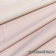 Плащевая с водоотталкивающим покрытием (о) светло-бежево-розовая в стиле Burberry - итальянские ткани Тессутидея