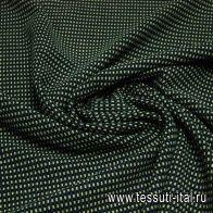 Костюмная фактурная стрейч (н) сине зеленые крапины в стиле Issey Miyake - итальянские ткани Тессутидея арт. 05-2153