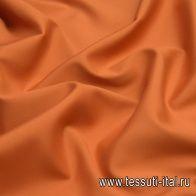 Плательная кади стрейч (о) терракотовая - итальянские ткани Тессутидея