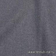 Пальтовая двухслойная (о) серая меланж - итальянские ткани Тессутидея