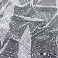 Сетка (о) белый горох на белом  - итальянские ткани Тессутидея арт. 03-6111