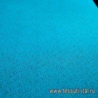 Кружевное полотно (о) темно-бирюзовое  - итальянские ткани Тессутидея