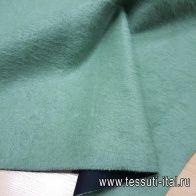 Пальтовая проклеенная поролоном (о) серо-зеленая - итальянские ткани Тессутидея