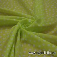 Маркизет (о) горох на желтом - итальянские ткани Тессутидея арт. 02-6273