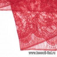 Кружево (о) красное - итальянские ткани Тессутидея