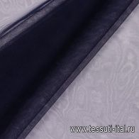Плательная сетка (о) темно-синяя - итальянские ткани Тессутидея арт. 03-5789
