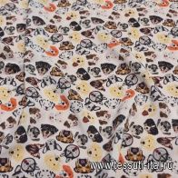 Крепдешин (н) собаки в стиле Aspesi - итальянские ткани Тессутидея