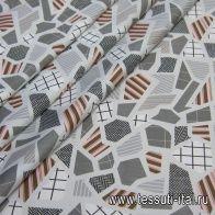 Хлопок стрейч (н) геометрический рисунок - итальянские ткани Тессутидея