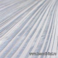 Плиссе на клеевой основе (о) серебрянное 135*70см - итальянские ткани Тессутидея