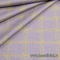 Костюмная (н) фиолетово-желтая клетка Piacenza - итальянские ткани Тессутидея