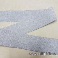 Резинка с люрексом серая ш-5см - итальянские ткани Тессутидея