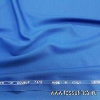 Плательная шерсть супер (о) Leitmotiv сине-голубая - итальянские ткани Тессутидея
