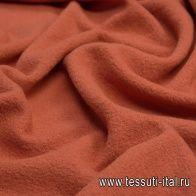 Пальтовая лоден (о) морковная - итальянские ткани Тессутидея