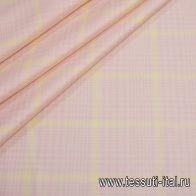 Костюмная (н) розово-молочная клетка - итальянские ткани Тессутидея