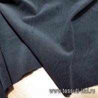 Микровельвет стрейч (о) черный - итальянские ткани Тессутидея