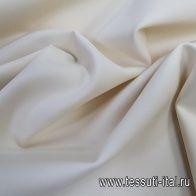 Плательная шерсть стрейч дабл (о) молочная - итальянские ткани Тессутидея
