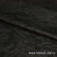 Пальтовая (о) черная ш-150см - итальянские ткани Тессутидея