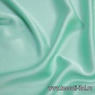 Шелк атлас фактурный (о) светло-салатовый - итальянские ткани Тессутидея арт. 10-2043