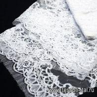 Кружево (о) белое - итальянские ткани Тессутидея