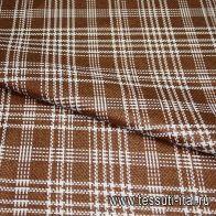 Костюмная шанель (н) бело-коричневая ш-150см - итальянские ткани Тессутидея арт. 05-2149